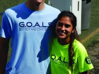 G.O.A.L.S. president Patricio Hernandez-Ysasi and club member senior Hansine Vexlund volunteer at one of the events striving to provide kids with Autism a safe and fun environment to play soccer. Photo provided by Patricio Hernandez-Ysasi.
