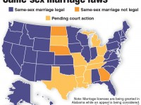 Map of U.S. same-sex marriage laws and rulings. TNS 2015