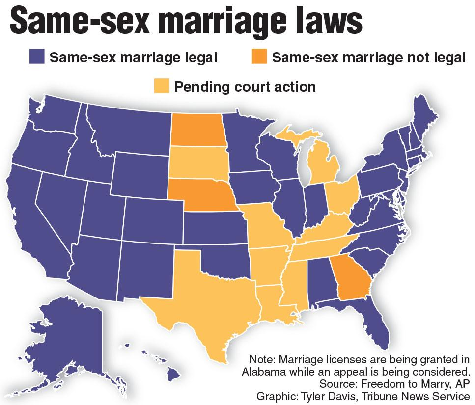 states on gay marriage