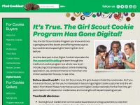 The Girl Scout webpage introduces their new online ordering system for Girl Scout Cookies. Photo from www.girlscoutcookies.org.