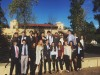 Students pose for a group photo in front of Stanford after a superb showing at the annual Model United Nations competition. Photo by Manuel Santelices.