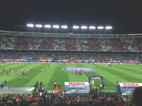 Atlético de Madrid's Stadium, the Vicente Calderon during halftime of the Atlético-Real Madrid game on Nov. 19. Real Madrid won the game by a score of 3-0. Photo by David Akerman.