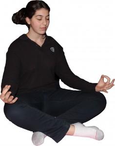 Easy pose cutout